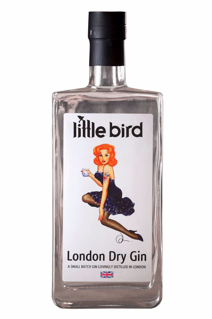 Little Bird London Dry Gin 41.6% (700ml)-Hop Burns & Black