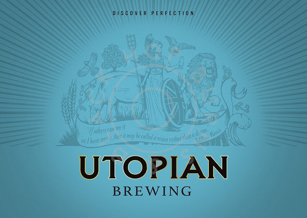 Utopian Cerne Specialni Black Lager 5.9% (440ml can)-Hop Burns & Black