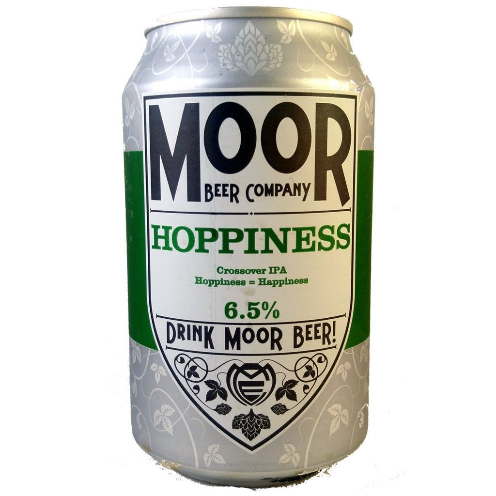 Moor Hoppiness 6.5% (330ml can)-Hop Burns & Black