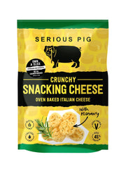 Serious Pig Crunchy Snacking Cheese with Rosemary (24g)-Hop Burns & Black