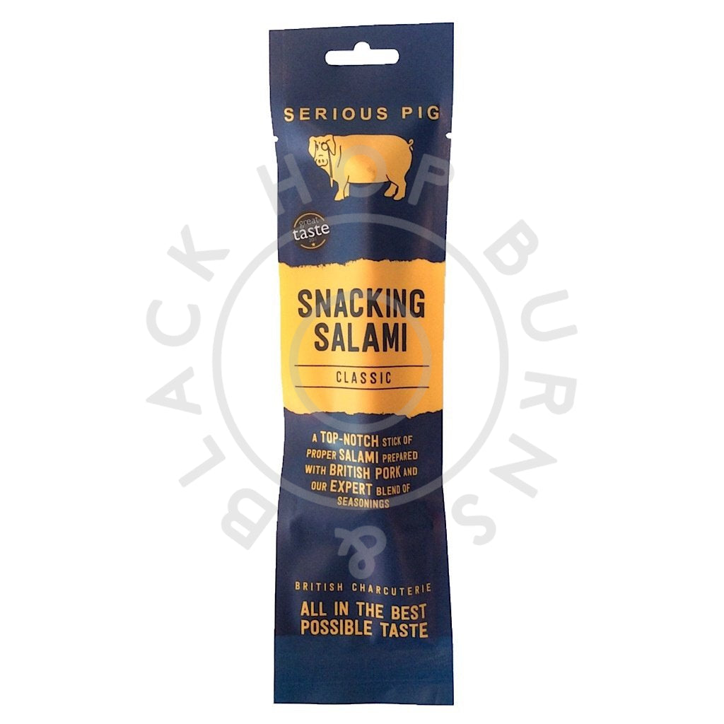 Serious Pig Snacking Salami Classic (28g)-Hop Burns & Black