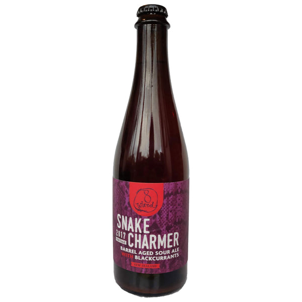 8 Wired Snakecharmer Barrel Aged Sour Ale With Blackcurrants 7.7% (500ml)-Hop Burns & Black