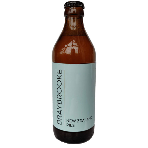 Braybrooke New Zealand Pilsner 4.8% (330ml)-Hop Burns & Black