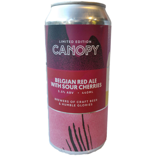 Canopy Belgian Red Ale with Sour Cherries 5.5% (440ml can)-Hop Burns & Black