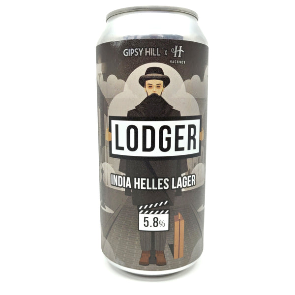 Gipsy Hill x Hackney Brewery Lodger India Helles Lager 5.8% (440ml can)-Hop Burns & Black