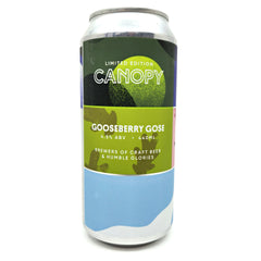 Canopy Gooseberry Gose 4.5% (440ml can)-Hop Burns & Black