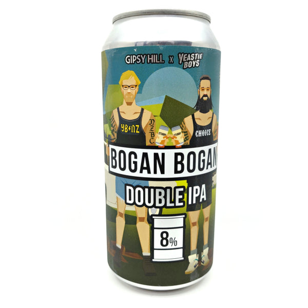 Gipsy HIll x Yeastie Boys Bogan Bogan Double IPA 8% (440ml can)-Hop Burns & Black