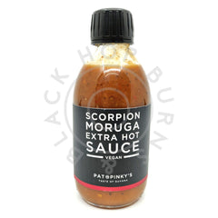 Pat & Pinky's Scorpion Moruga Extra Hot Sauce (250ml)-Hop Burns & Black