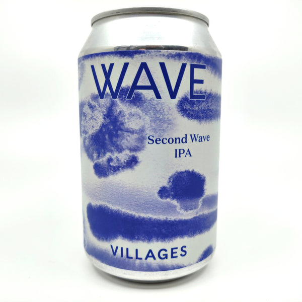 Villages Second Wave IPA 5.9% (330ml can)-Hop Burns & Black