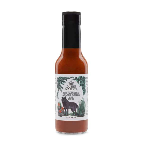 Queen Majesty Red Habanero & Black Coffee Hot Sauce (141ml)-Hop Burns & Black