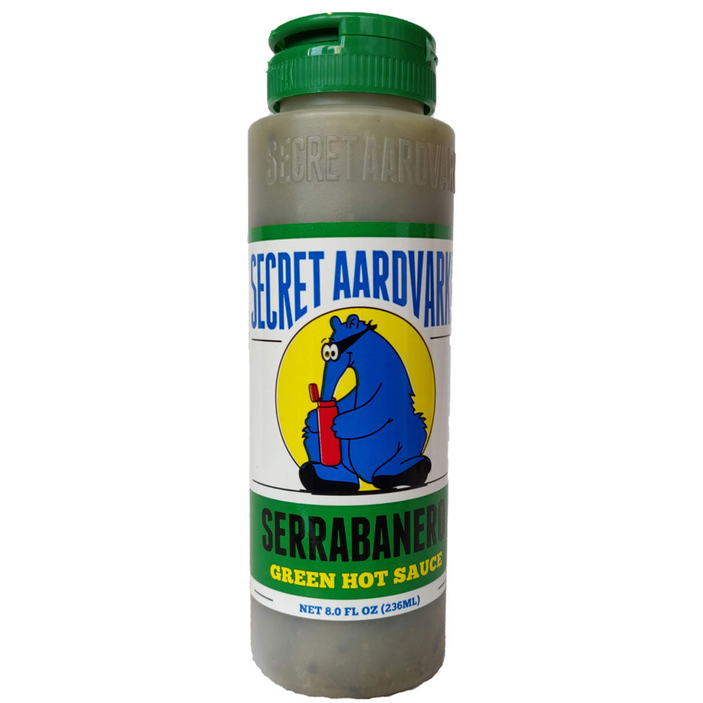 Secret Aardvark Serrabanero Green Hot Sauce (236ml)-Hop Burns & Black