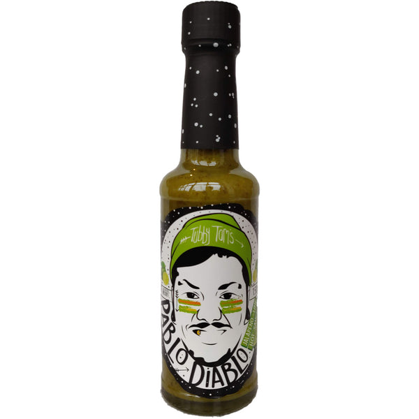 Tubby Tom's Pablo Diablo Jalapeno & Lime Hot Sauce (150g)-Hop Burns & Black