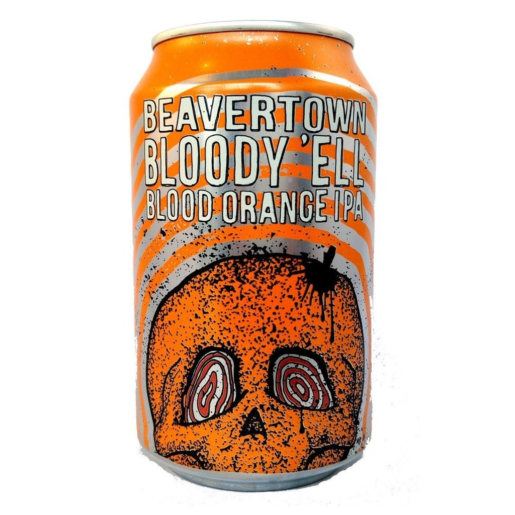 Beavertown Bloody Ell Blood Orange IPA 7.2% (330ml can)-Hop Burns & Black