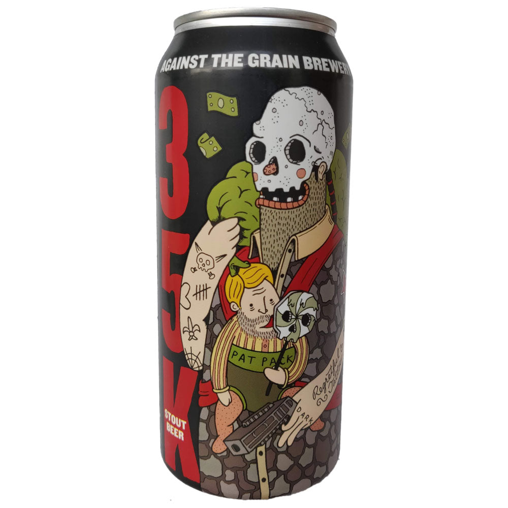 Against The Grain 35K Milk Stout 7% (473ml can)-Hop Burns & Black