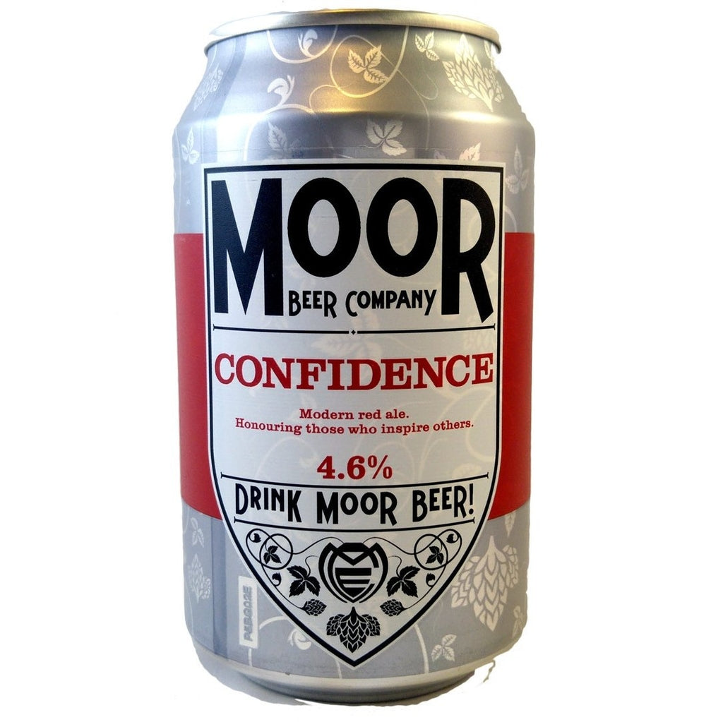 Moor Confidence 4.6% (330ml can)-Hop Burns & Black