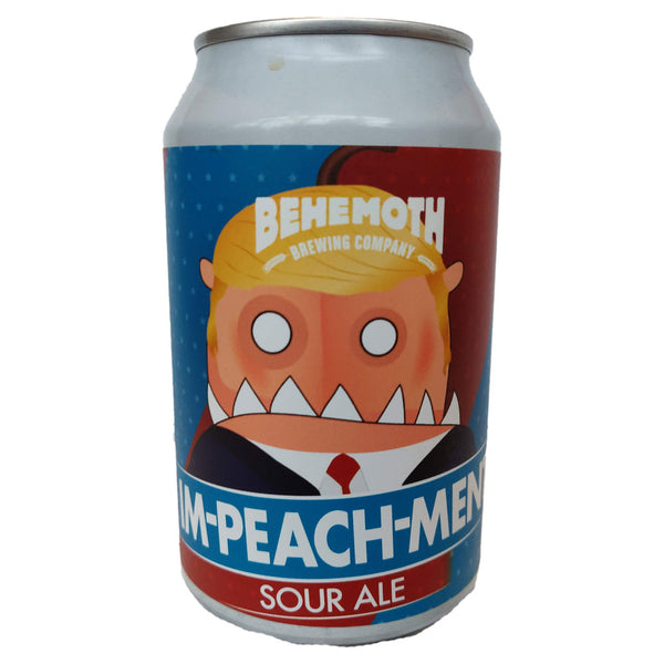 Behemoth Brewing Im-PEACH-ment Sour Ale 5.5% (330ml can)-Hop Burns & Black