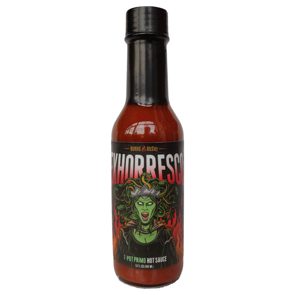 Burns & McCoy Exhorresco 7 Pot Primo Hot Sauce (148ml)-Hop Burns & Black
