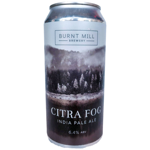 Burnt Mill Citra Fog IPA 6.4% (440ml can)-Hop Burns & Black