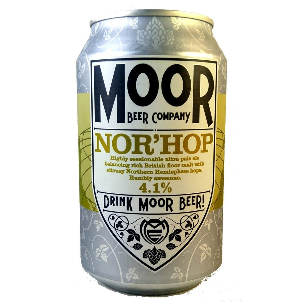 Moor NorHop 4.1% (330ml Can)-Hop Burns & Black