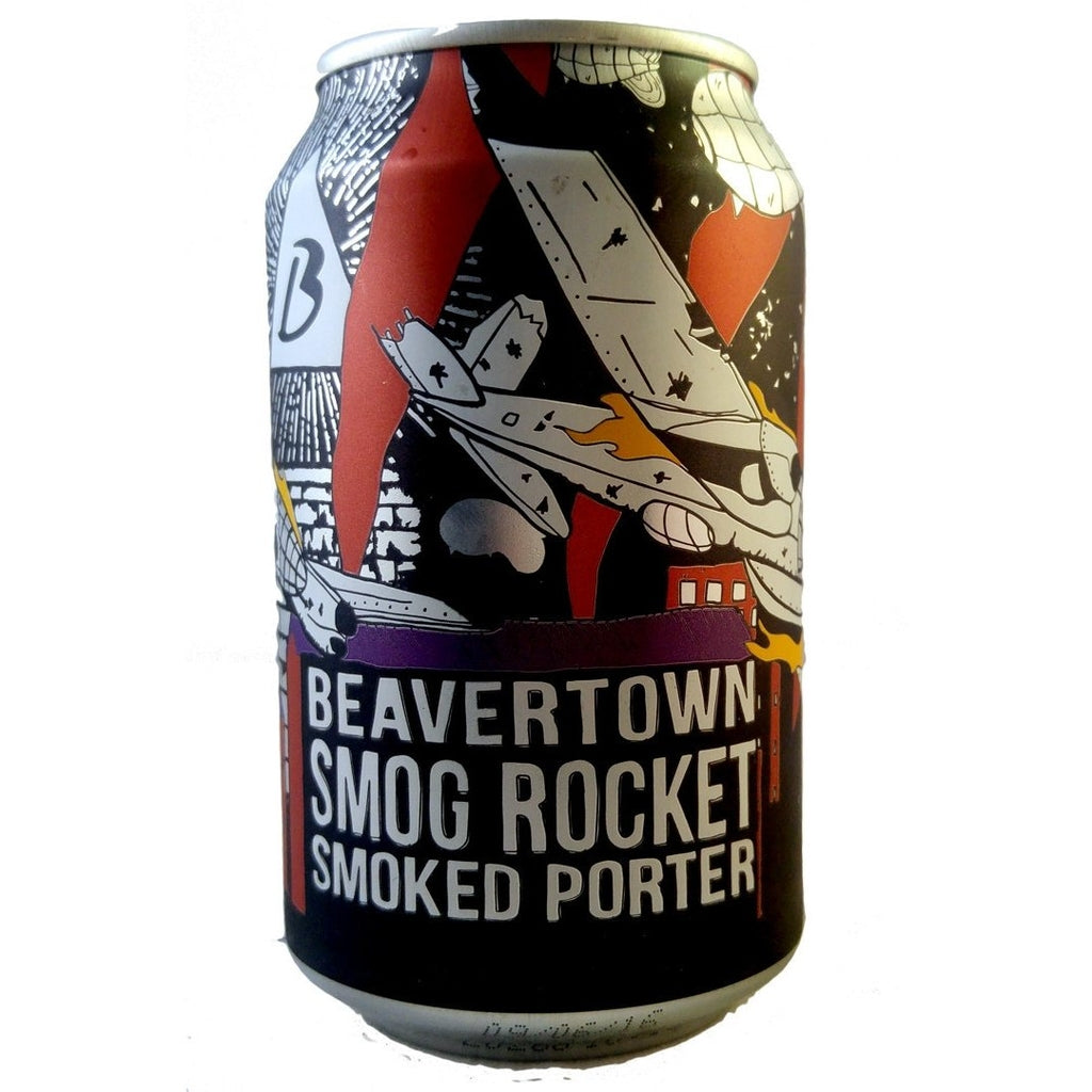 Beavertown Smog Rocket Smoked Porter 5.4% (330ml Can)-Hop Burns & Black