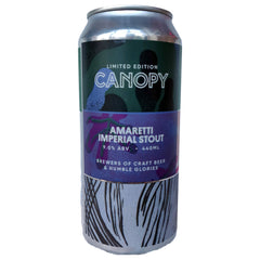 Canopy Amaretti Imperial Stout 9% (440ml can)-Hop Burns & Black