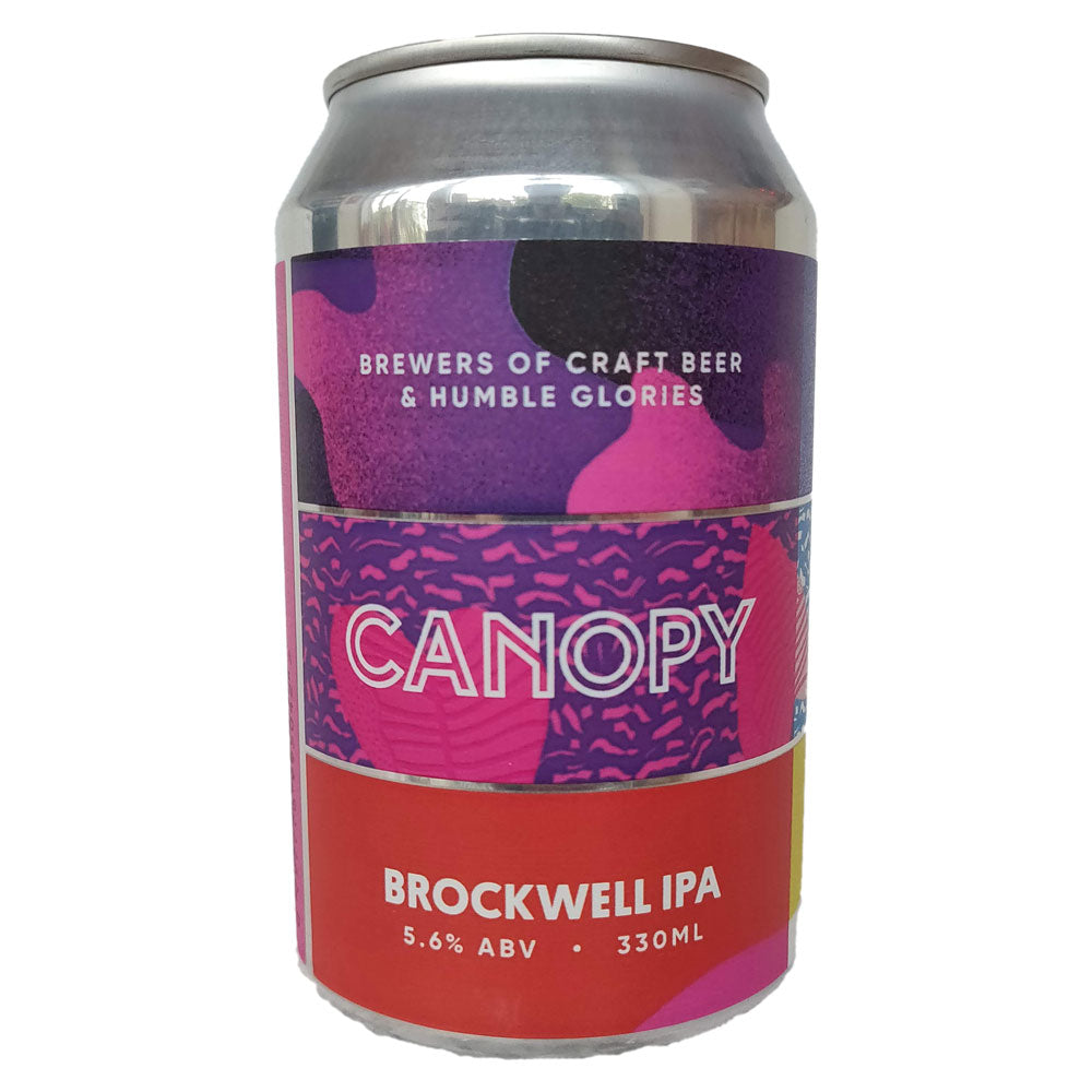 Canopy Brockwell IPA 5.6% (330ml can)-Hop Burns & Black