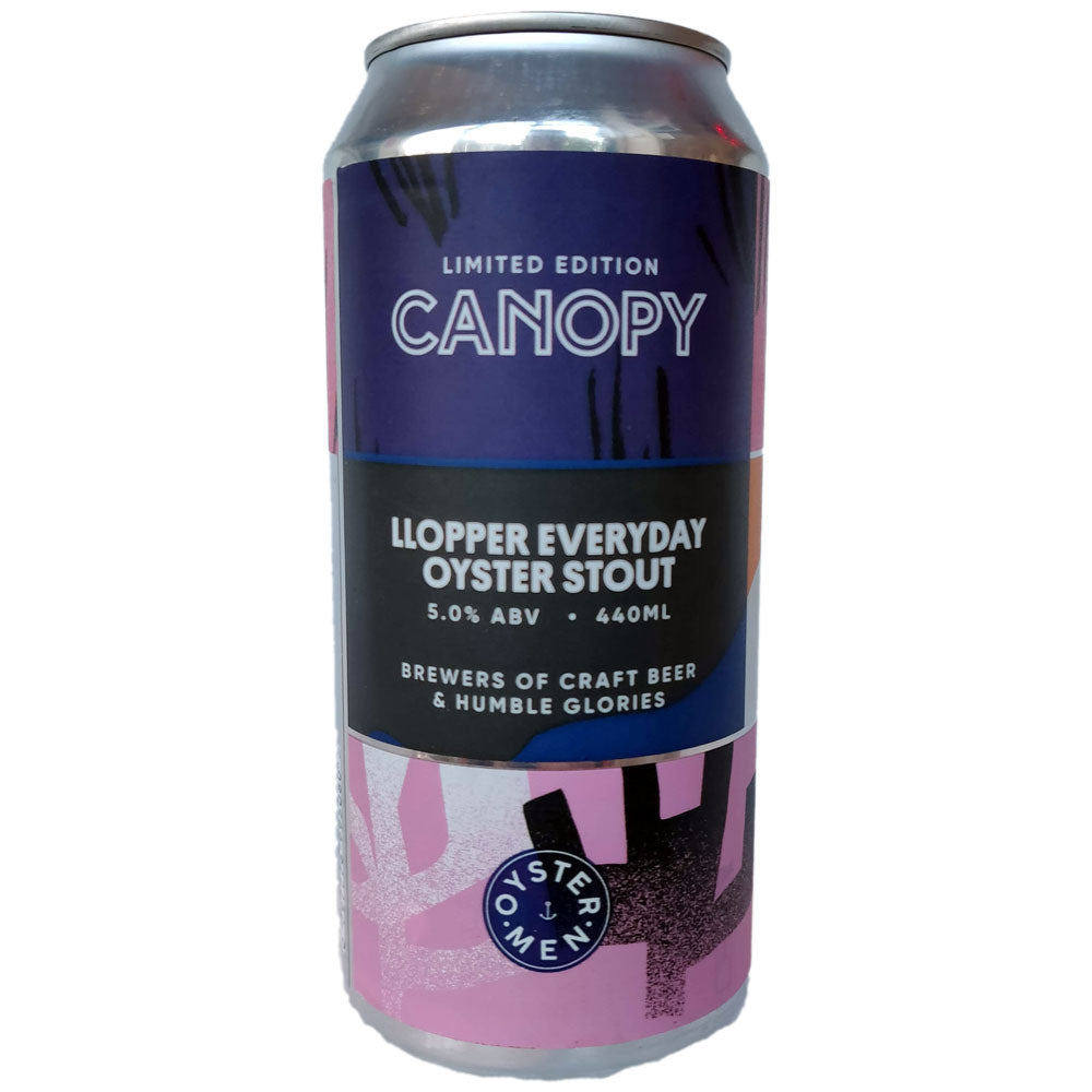 Canopy x The Oystermen Llopper Everyday Oyster Stout 5% (440ml can)-Hop Burns & Black