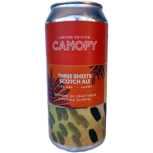 Canopy Three Sheets Scotch Ale 7.4% (440ml can)-Hop Burns & Black