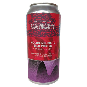 Canopy Hoots & Shoots Sloe Porter 5% (440ml can)-Hop Burns & Black