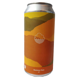 Cloudwater Summer Pale 4% (440ml can)-Hop Burns & Black