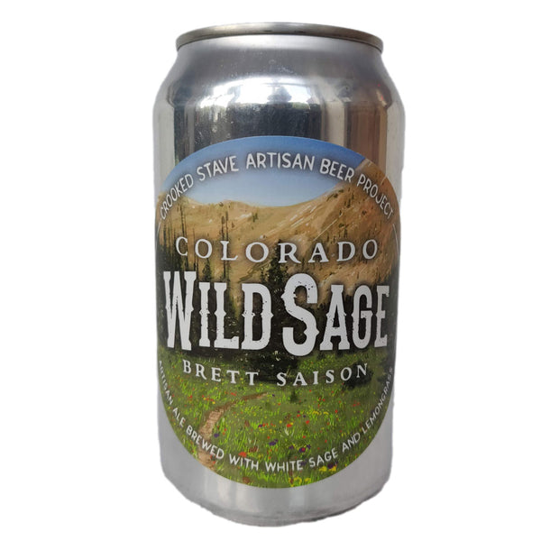 Crooked Stave Colorado Wild Sage Brett Saison 7.2% (355ml can)-Hop Burns & Black