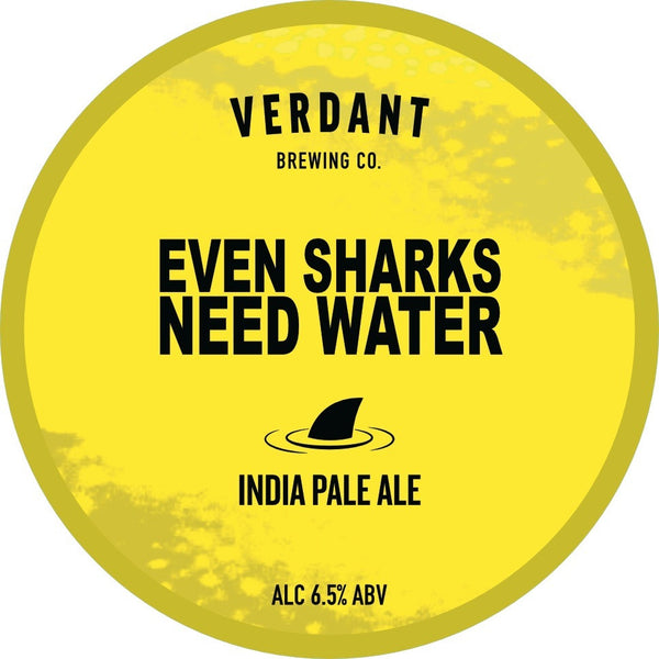 Verdant Even Sharks Need Water IPA 6.5% (440ml can)-Hop Burns & Black