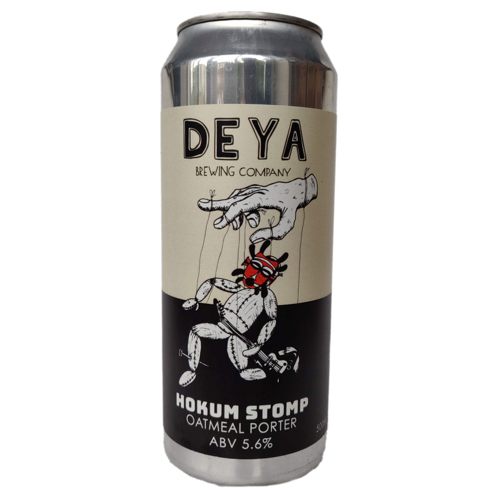 DEYA Hokum Stomp Oatmeal Porter 5.6% (500ml can)-Hop Burns & Black
