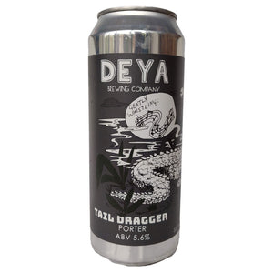 DEYA Tail Dragger Smoked Porter 6.5% (500ml can)-Hop Burns & Black