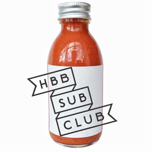 12 month quarterly (4 boxes) pre-paid - HB&B Sub Club Burns Box hot sauce subscription-Hop Burns & Black