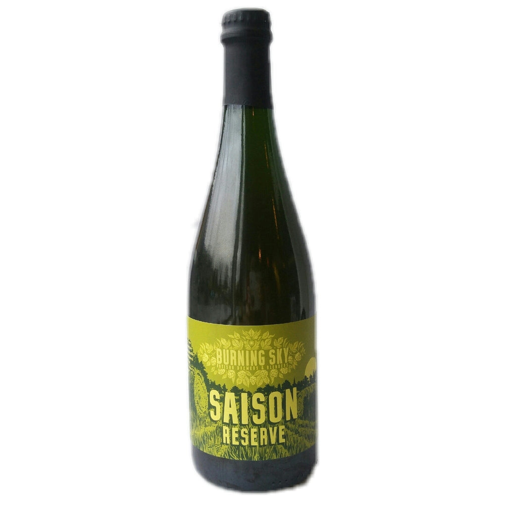 Burning Sky Saison Reserve 7.5% (750ml)-Hop Burns & Black