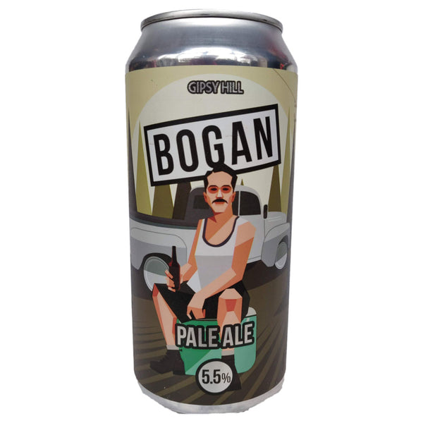Gipsy Hill Bogan NZ Pale Ale 5.5% (440ml can)-Hop Burns & Black