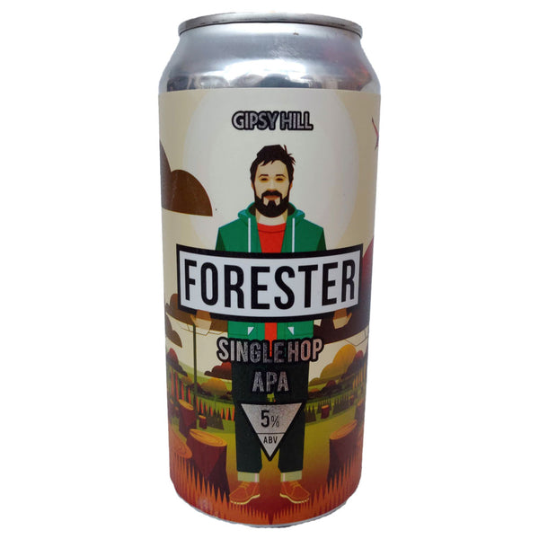 Gipsy Hill Forester Single Hop APA 5% (440ml can)-Hop Burns & Black