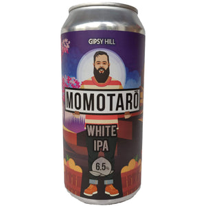 Gipsy Hill Momotaro White IPA 6.5% (440ml can)-Hop Burns & Black