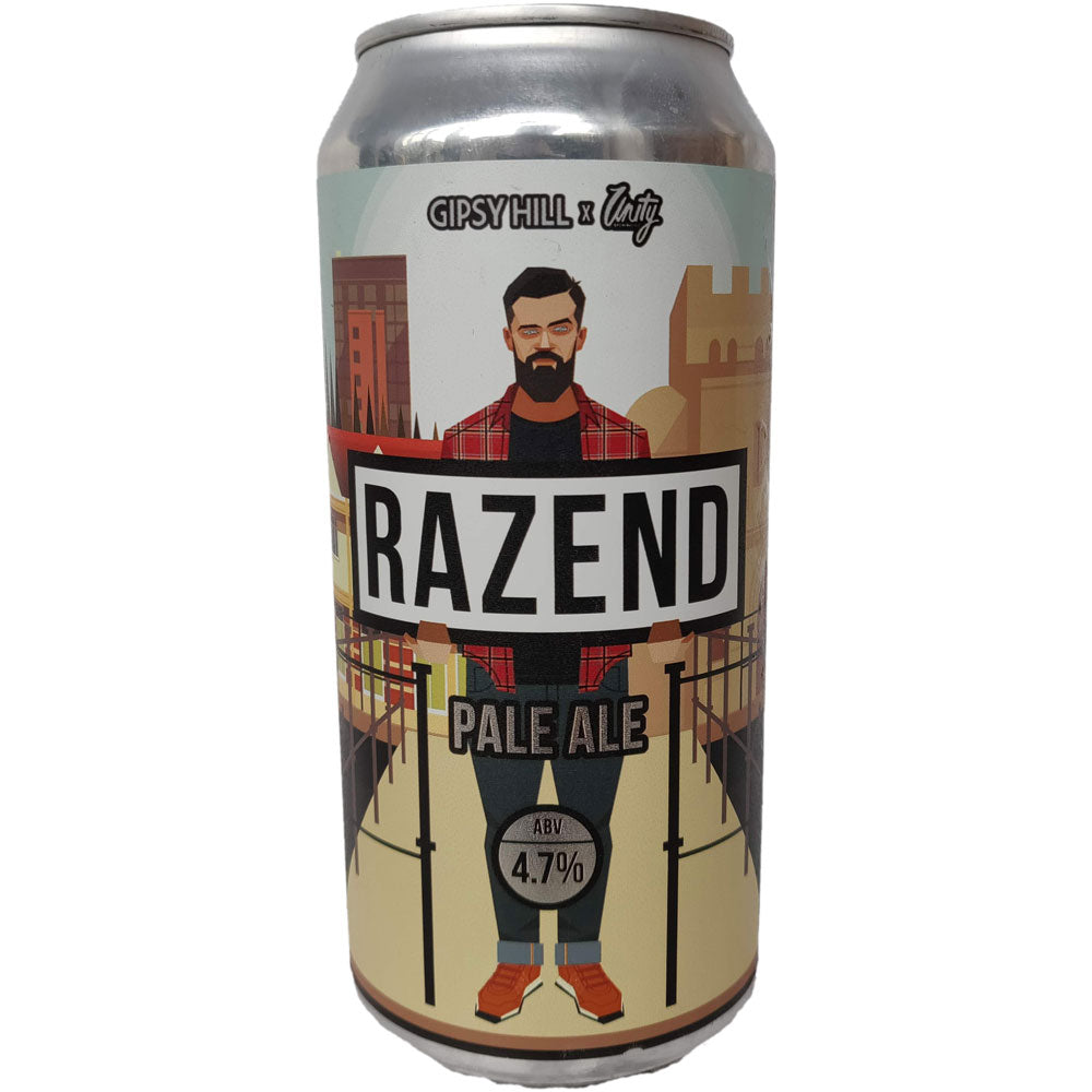 Gipsy Hill x Unity Brewing Razend Pale Ale 4.7% (440ml can)-Hop Burns & Black