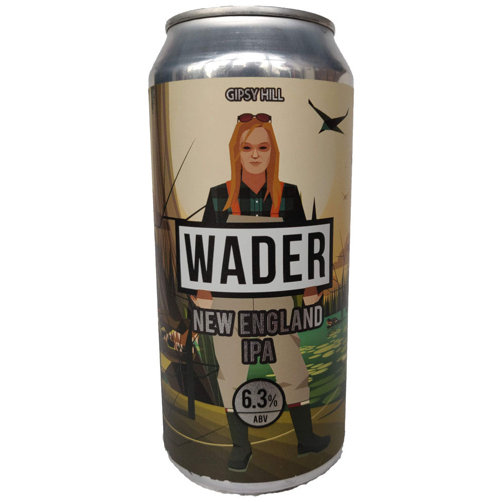 Gipsy Hill Wader New England IPA 6.3% (440ml can)-Hop Burns & Black