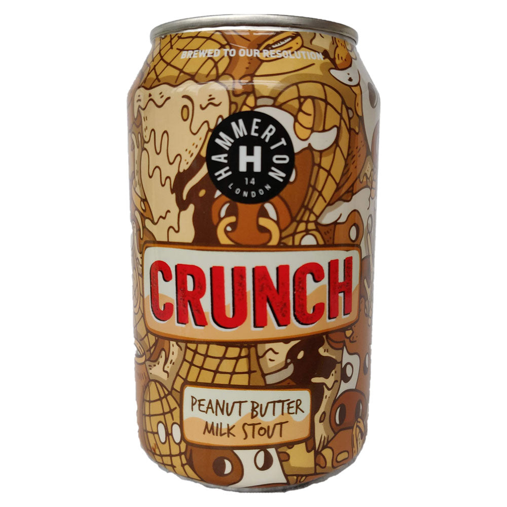 Hammerton Brewery Crunch Peanut Butter Milk Stout 5.4% (330ml can)-Hop Burns & Black