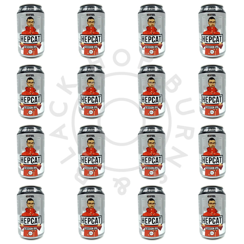 Gipsy Hill Hepcat Session IPA 4.6% CASE (24 x 330ml cans)-Hop Burns & Black