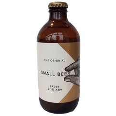 Small Beer Lager 2.1% (350ml)-Hop Burns & Black