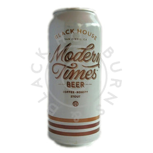 Modern Times Black House Stout 5.8% (473ml can)-Hop Burns & Black