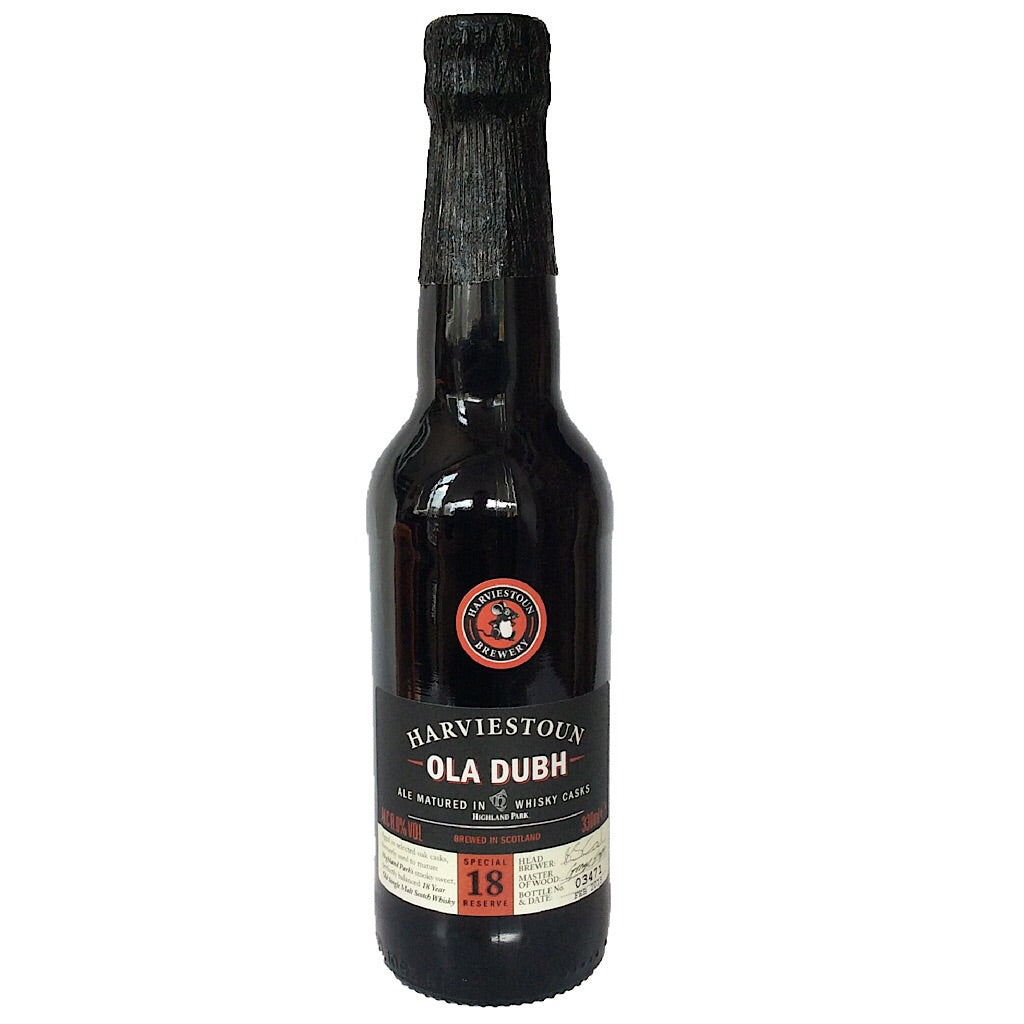 Harviestoun Ola Dubh 18 Year Old 8% (330ml)-Hop Burns & Black