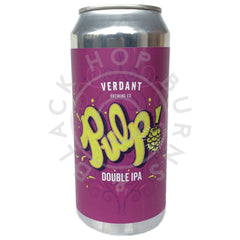 Verdant Pulp DIPA 8% (440ml can)-Hop Burns & Black