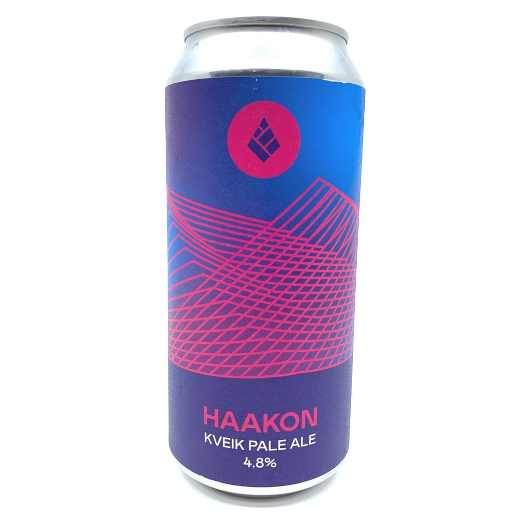 Drop Project Haakon Kveik Pale Ale 4.8% (440ml can)-Hop Burns & Black