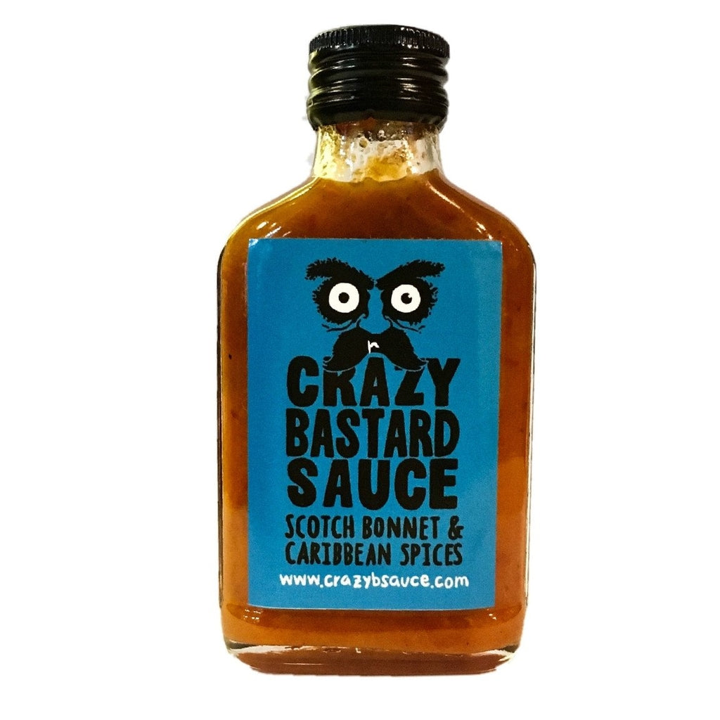 Crazy Bastard Sauce Scotch Bonnet & Caribbean Spices Hot Sauce (100ml)-Hop Burns & Black