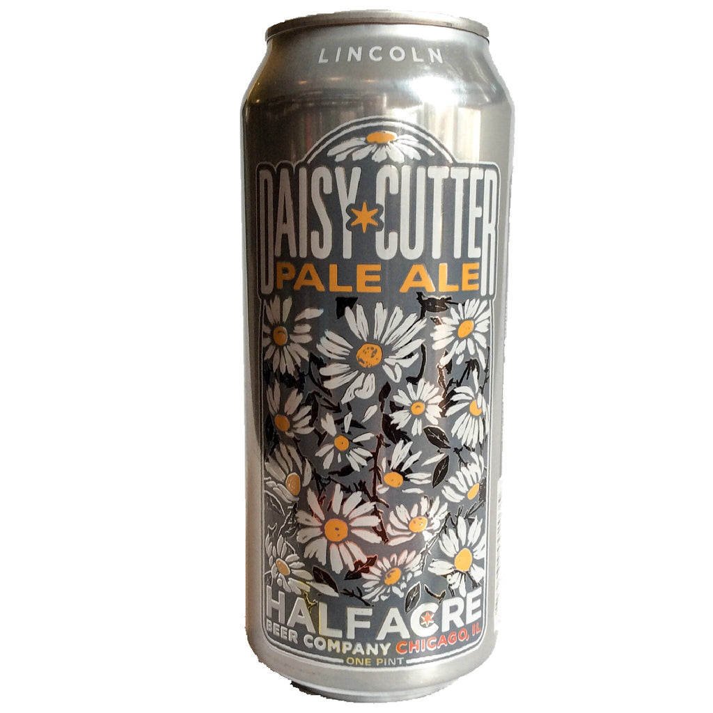 Half Acre Daisy Cutter Pale Ale 5.2% (473ml can)-Hop Burns & Black